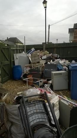 Rubbish pile