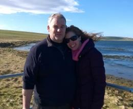 Vickie and Mark enjoying Orkney
