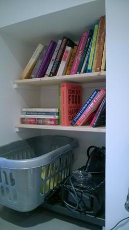 My new shelves for cookbooks